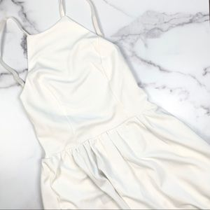 Fancyinn White Backless Mini Dress